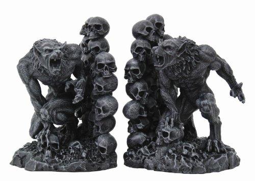 Pacific Giftware Werewolves Werewolf & Skulls Fantasy Set of Bookends Book Ends