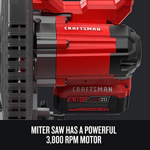 CRAFTSMAN V20 7-1/4-Inch Sliding Miter Saw Kit (CMCS714M1)