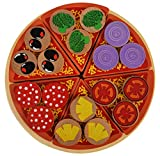 Trinkets & More™ - Wooden 18 Toppings Pizza Set | Kids Kitchen Set