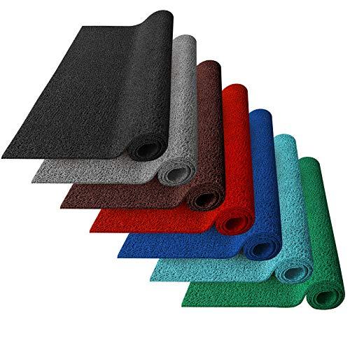 Zerbino Ingresso Esterno - Zerbino PVC Ricciolo - Tappeti da Esterno Gomma, Drenanti e Igienici in 7 Colori e 3 Misure - 120x200 cm - Nero