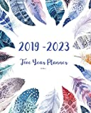 2019-2023 Feathers Five Year Planner: 60 Months Planner and Calendar,Monthly Calendar Planner, Agenda Planner and Schedule Organizer, Journal Planner ... years (5 year calendar/5 year diary/8 x 10)