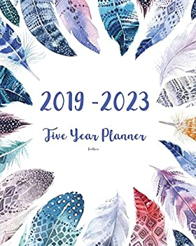 2019-2023 Feathers Five Year Planner  60 Months Planner and Calendar,Monthly Calendar Planner Agenda Planner and Schedule Organizer Journal Planner .. years  5 year calendar/5 year diary/8 x 10