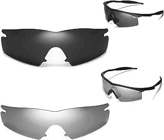 New Walleva Polarized Black+ Titanium Lenses For Oakley M Frame Strike