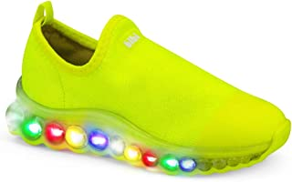 c994e9ec093b5 Tênis Infantil Bibi Masculino de Luz Amarelo Neon Roller Celebration 1079036