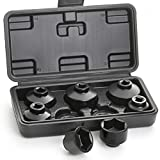 Hromee Fuel Filter Cap Removal Tool 7 Pieces Low Profile Oil Canister Socket Set 24mm 27mm, 29mm, 30mm, 32mm, 36mm and 38mm