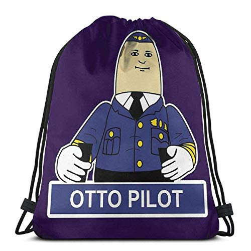 Otto The Iatable Pilot Wasserdichter Faltbarer Sport Sackpack Sporttasche Sack Drawstring Rucksack