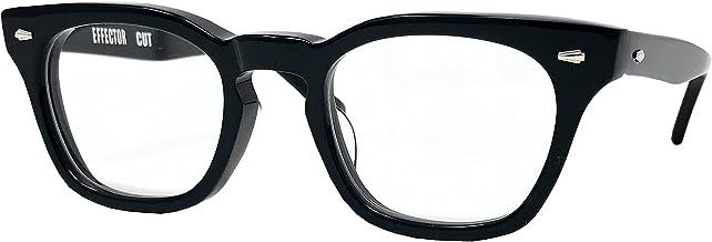 EFFECTOR サングラス 伊達眼鏡 メガネ CUT-BK【日本製】 ブラック メンズ レディース ファッション おしゃれ シンプル めがね工房ハトヤオリジナルメガネ拭き付【正規品】