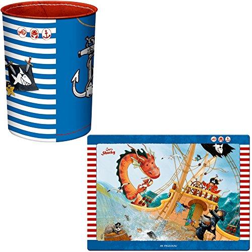 Spiegelburg Capt'n Sharky 2er Set 12773 12846 Papierkorb + Schreibtischauflage