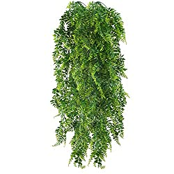 This hanging greenery trailing plant design is perfect for adding a stylish fresh air to your decor without taking up table space, featuring long stem so you can hang them in kitchen, office, hanging planter, basket to add a touch of naturalness. The...