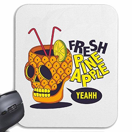 Mousepad (Mauspad) FRESH PINE APPLE YEAHH SKULL COCKTAIL PINA COLADA ZITRONE SOFTDRINK ERFRISCHUNG BIER WODKA SCHNAPS WEIN ALKOHOL ROTWEIN WEIßWEIN LIKÖR für ihren Laptop, Notebook oder Int