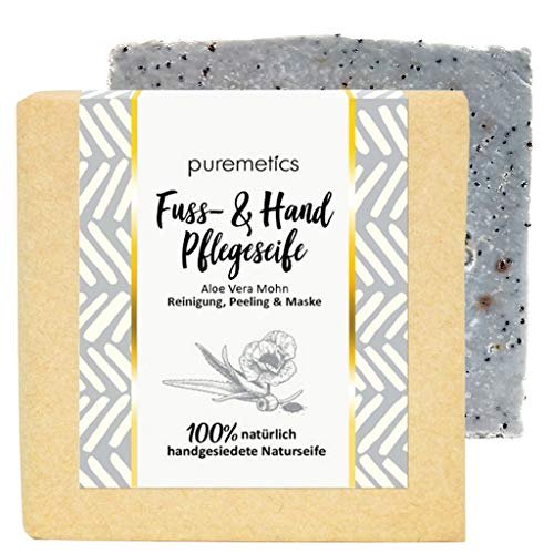 puremetics Zero Waste peelende Fuß- & Handpflege-Seife
