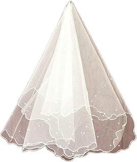 noir Fenical Voile de mari/ée pour mariage noir long avec bord du ruban pour les femmes dames