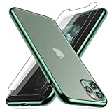 Losvick Coque iPhone 11 Pro x 2 Pièces Verre Trempé Protection, Transparente Silicone Souple...
