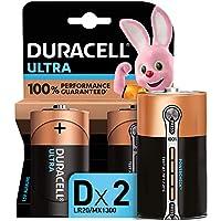 Duracell Ultra D con Powercheck, Pilas Alcalinas, paquete de 2, 1.5 Voltios LR20 MN1300