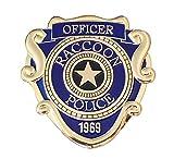 Super6props Resident Evil 2 Remake Raccoon City Police Officer Inspirado en Metal Prop Costume / Cosplay Badge con Pasador (75 mm x 74 mm)