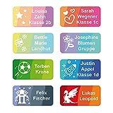 foliado® Namensaufkleber Kinder bis zu 3-zeilig Etikett 30x15mm Sticker Namensetikett Schule Kita personalisierte Klebeetiketten zur Kennzeichnung wasserfest (60 Stück) APD-004