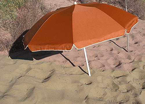 Ombrellone Pieghevole Compatto Arancione Diam 160 cm in Seguire la curvatura. Nylon con protezione UV UPF50 + (SGS). Lunghezza piegata nella sua borsa: 70 cm. Ideale per campeggio, spiaggia