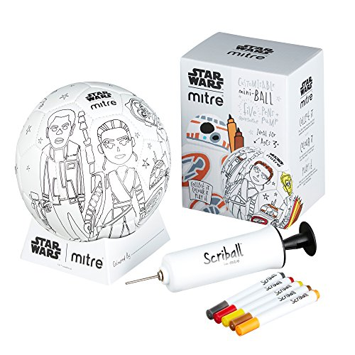 Mitre Star Wars Scriball from Mitre Personalisable Football with Colouring Pens