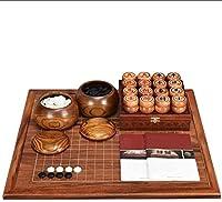親子インタラクティブゲーム 行く、中国のチェスセット、大人の初心者の純木の両面チェス盤(知的思考演習) チェスセット LLCC
