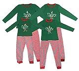 Elf Pijamas Pijama de Navidad Familia Juego el Sistema papá mamá Fresca de pequeños Duendes Hombres Mujeres Niño Niña de Navidad Traje Ropa de Dormir (XL, Momia elfa)