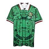 WM 1998 Mexiko-Fußball Jersey, Mexiko Heim/Auswärts Retro Fußball-Nationalmannschaft T-Shirt, Fußball-Hemd Für Männer Frauen Green-M