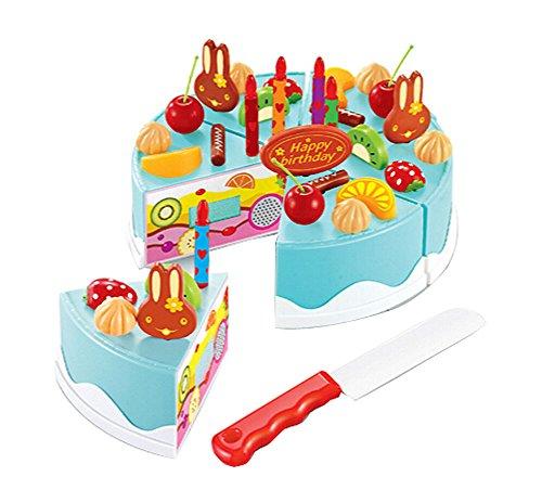 Lovely House Jouer Jouets pour enfants Jouets Jeux Simulé Birthday Cake BLEU