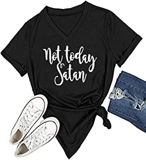 Womens Causal Short Sleeve V-Neck T-Shirt Graphic Tees