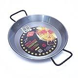 EL CID スペイン製 パエリヤ鍋 プロ用 パエリアパン レシピ 付き パエージャ IH対応 30cm 4人用