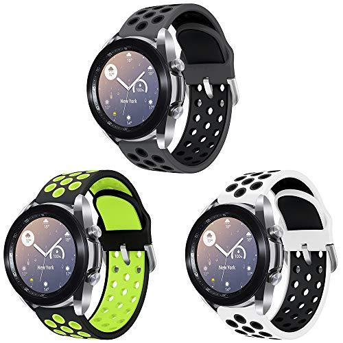 Sycreek Compatibile per Samsung Active Cinturino 20mm Cinturino di Ricambio Sportivo in Silicone per Samsung Galaxy Watch 42mm/Galaxy Wacth 3 41mm/Active2 40mm/Active 44mm/Gear Sport