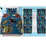 Marvel Avengers Force Single Duvet Cover Set + Matching Curtains 72' Drop