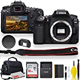 Canon EOS 90D DSLR Camera with Padded Case, Memory Card, and More - Starter Bundle Set (International Model)