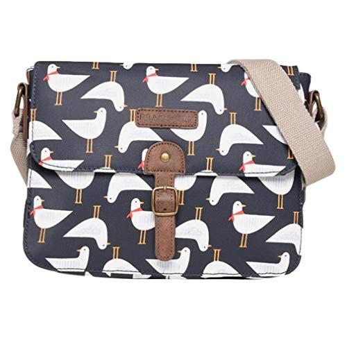 Purple Possum® Seagull Satteltasche, Schultertasche, Damen, Umhängetasche, Marineblau