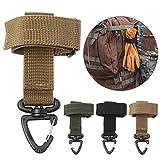 Outdoors Molle - Hebilla multifunción militar para colgar, clip para guantes, gancho táctico para llaves, mosquetón, hebilla de mochila para senderismo, camping, 3 colores, alternativa 1 pieza