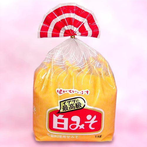 サヌキ粒白味噌(白みそ漬料理用つぶ甘みそ) 1kg袋入り