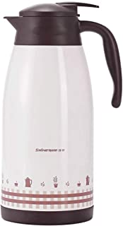 ZCXBHD 真空容器 ステンレス鋼 家庭 断熱ポット サーマル カラフ ケトル 屋外 高容量 にとって 紅茶/水/コーヒー 2L (色 : 白)