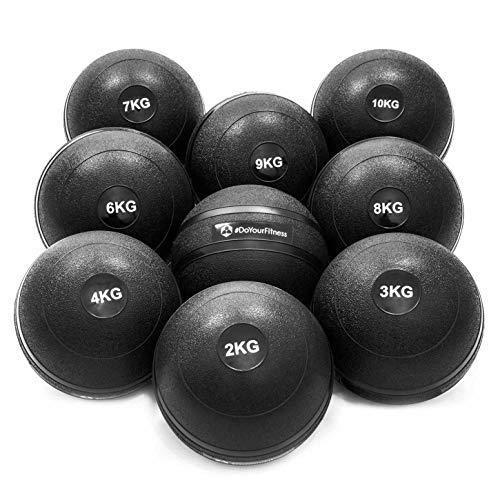 #DoYourFitness® Slamball/Medizinball 0,5kg bis 10kg - robuste & strukturierte Oberfläche - ohne/kein Rückprall : idealer Fitness Ball für Kraft-, Ausdauer- & Functionaltraining / 6kg Bleon