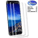 YIEASY 2 Piezas Protector de Pantalla para Samsung S7 Edge,dureza 9H,Cubierta Completa 3D,0.33MM HD Cristal Templado,Anti-Arañazos,Sin Burbujas,Vidrio Templado película Protectora para S7 Edge
