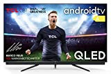 TCL 75C815 QLED-Fernseher (75 Zoll) 4K Ultra HD, Smart-TV (Android TV, Prime Video, Dolby Vision Atmos, ONKYO-Audiosystem, rahmenloses Metalldesign, kompatibel mit Google-Assistent & Alexa)
