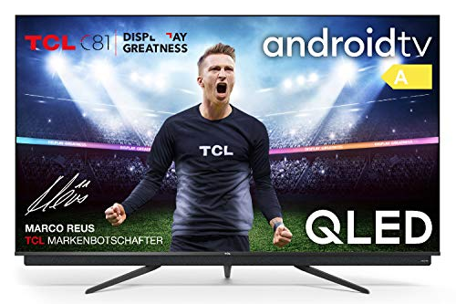 TCL 55C815 QLED-Fernseher (55 Zoll) Smart TV (4K Ultra HD, HDR 10+, Triple Tuner, Android TV, Dolby Vision Atmos, integrierte ONKYO Soundbar, Motion Clarity PRO, Google-Assistent & Alexa)