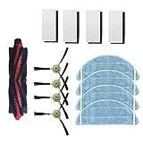 Fantisi Accessories Ricambi per Lefant M301, M201, M501-A, M501-B, M520, T700, M571 Robot Aspirapolvere Kit di ricambio con 4 filtri, 4 spazzole laterali, 4 panni di pulizia, 1 spazzole principali