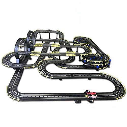 Pistas de carreras de coches tragamonedas Juego de pistas eléctricas para niños...