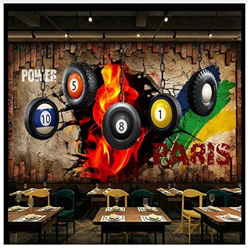 3D Tapete Wandbild Billiard Bild Hintergrund Tapeten Dekor 3D Tapeten Für Wände Tischtennis Poster Dekorative Wandbild Tapete Seidenstoff 200X140cm,Ayzr