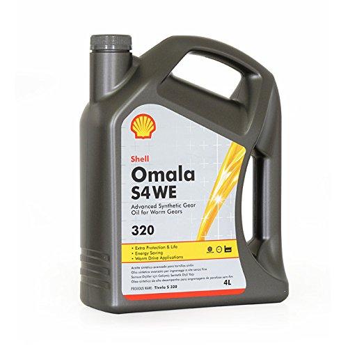 Shell Omala S4 We 320 4 Litri - Oli Sintetici per Ingranaggi Industriali di Tecnologia avanzata
