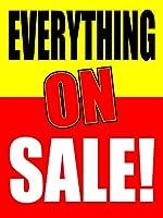 Everything On Sale 18インチ x 24インチ ビジネスストア リテールサイン Pack of 5