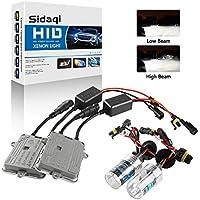 Sidaqi H7 HID Kit de conversión de faros de xenón 6000K Dos balastos HID ultradelgados de 55W para faros delanteros/luces bajas Automóviles