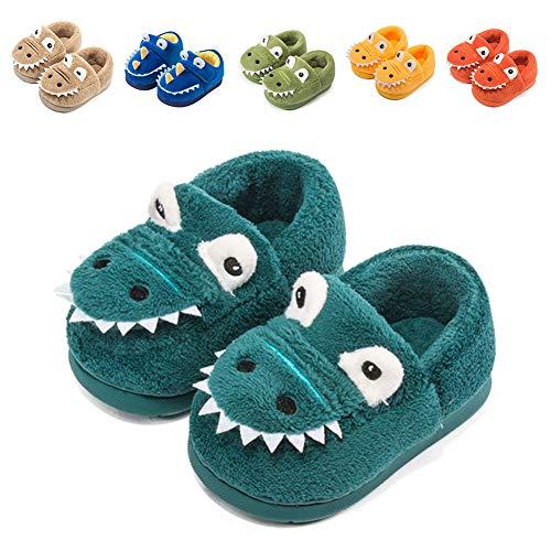 Fadezar Zapatillas De Estar por Casa para Niñas Niños Invierno Pantuflas Animales Antideslizantes Cálido Slippers Azul 25/26