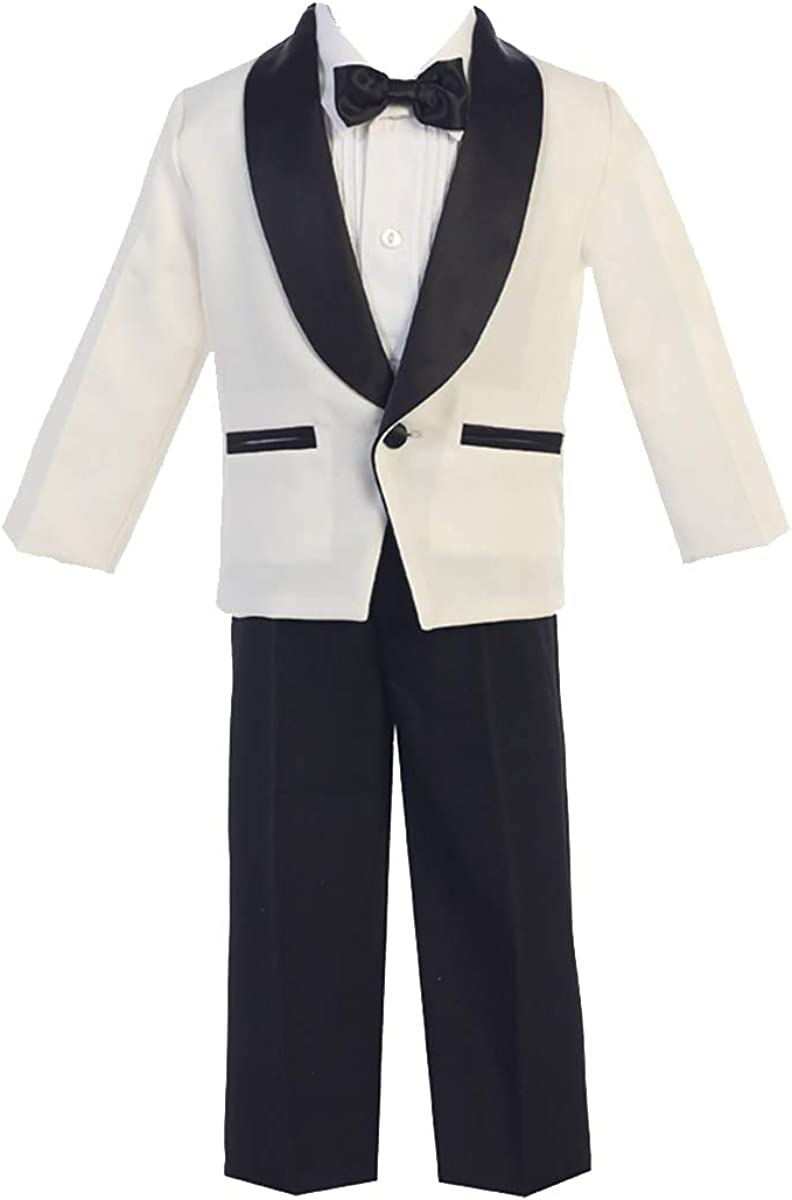 Lito Childrens Wear Recommended Ivory Boys Tuxedo To - Black Pants Suit Quality inspection with