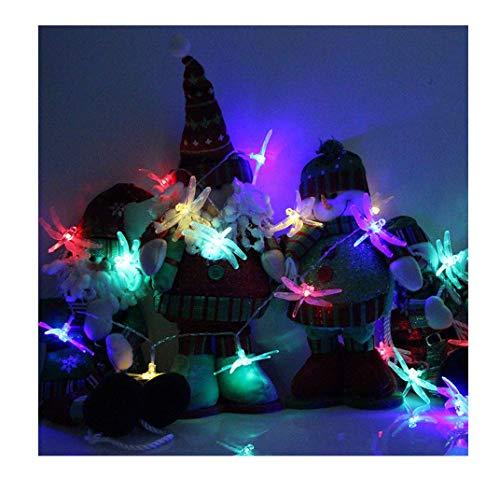 Tier Lichterketten 10 LEDs wasserdichte Beleuchtung Simulation Libelle Garden Decor 1.2 Meter Lange Lichterkette Wandleuchte Karnevalslichter Deko FüR Hochzeit, Zimmer, Home, Party