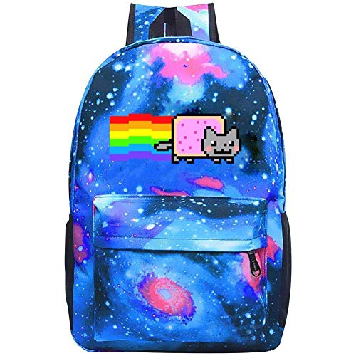 Nyan Cat Rainbow Galaxy School Backpack Bookbag For School College Student Travel Busines