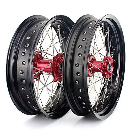 TARAZON 17'*3.5'+5,0'' Supermoto Felgensatz Llantas Wheels Radsatz para Honda CRF450R 13-19/CRF450RX 17-19/CRF250R 14-19/CRF250RX 2019